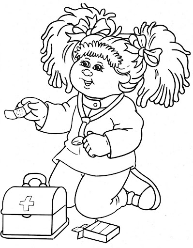 Cabbage Patch Kids Colouring Book   Coloring Of Cartoon Printable ...