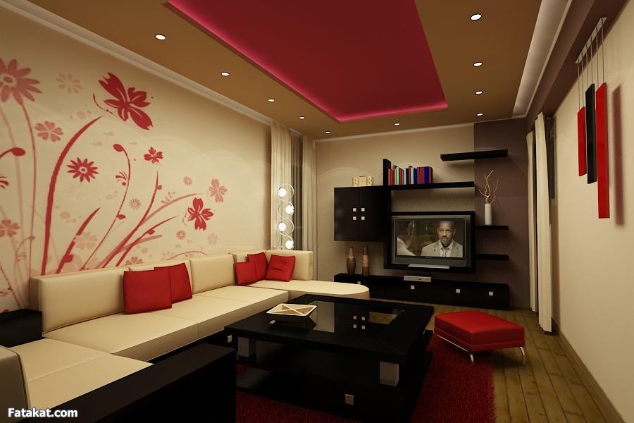 Small Living Room Design Ideas With Theater And Gypsum Ceiling Part 34