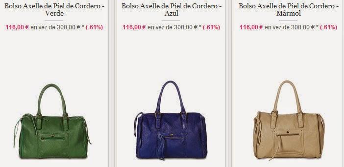 Ejemplos de bolsos de piel modelo Axelle