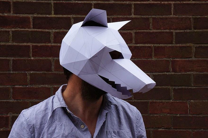 Объемные маски из картона