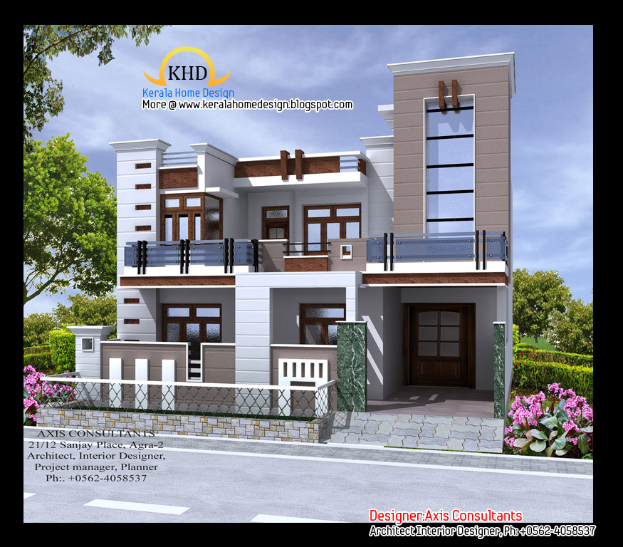 Exterior House Elevation http://exteriorcollections.blogspot.com/2012/10/3d-views-of-residential-bangalows.html