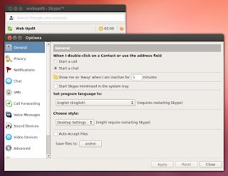 Skype broken theme 64bit Ubuntu