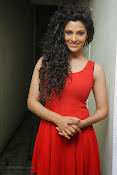 Saiyami Kher Hot in Red at Rey Trailer launch-thumbnail-4