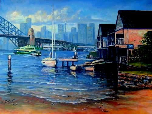 Are A Couple Of Previous Paintings Of Lavender Bay (Both Are Sold
