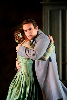 Oksana Volkova and Michael Fabiano in Kasper Holten's production Eugene Onegin at Royal Opera House © Photograph by Bill Cooper, ROH 2015