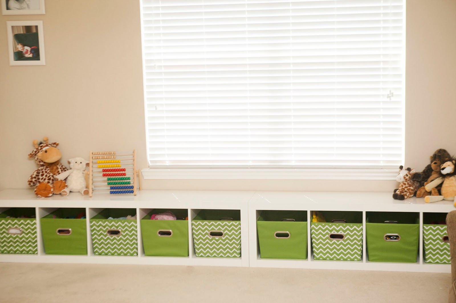 Playroom Seating Bench And Toy Storage