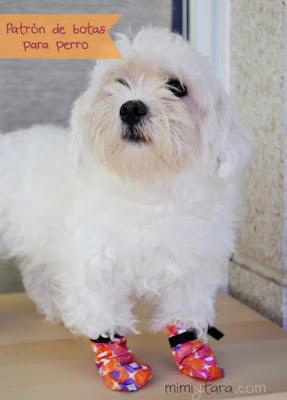 patron de botas para perros