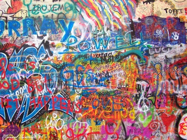 Praga, muro di Lennon