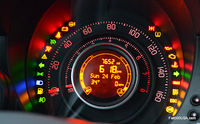 Fiat 500 Abarth Instrument Panel