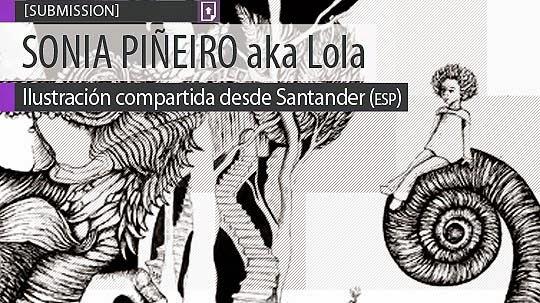 Ilustración. Camaleón de SONIA PIÑEIRO aka Lola
