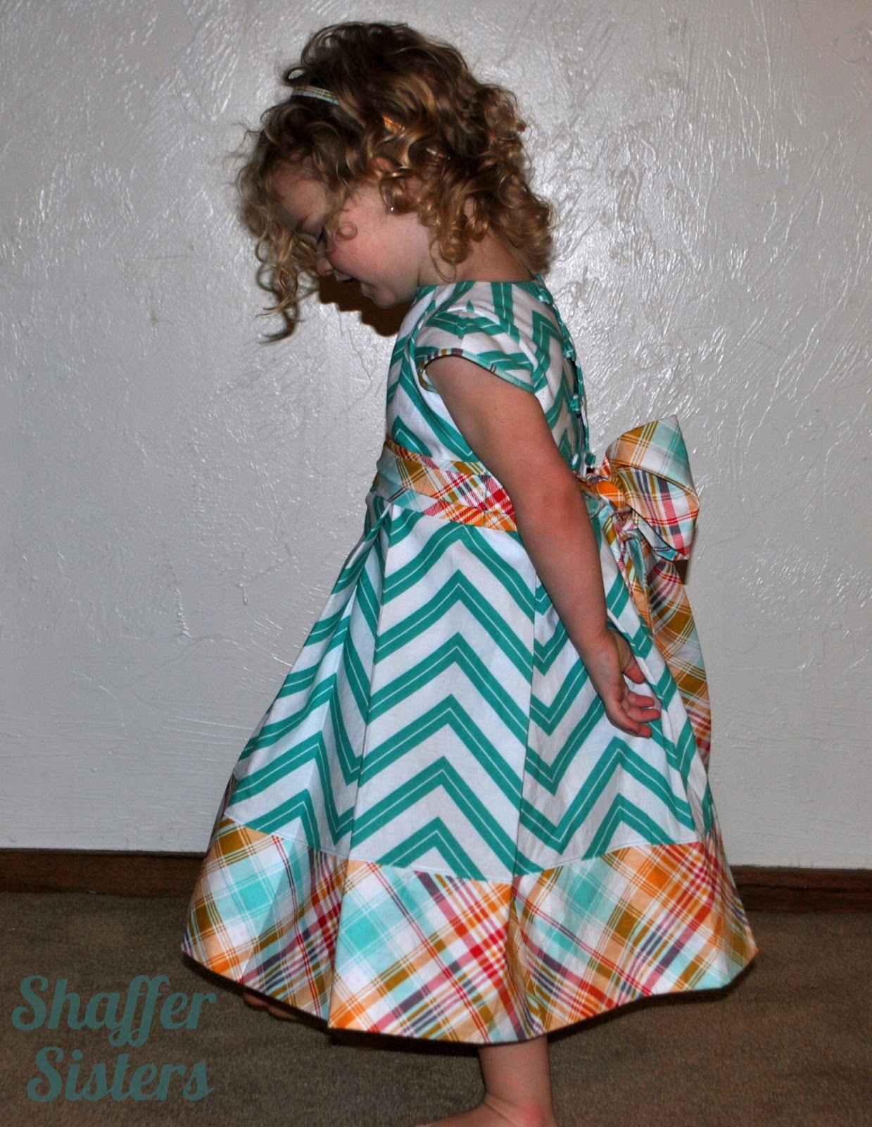 Chevron Pleated Dress