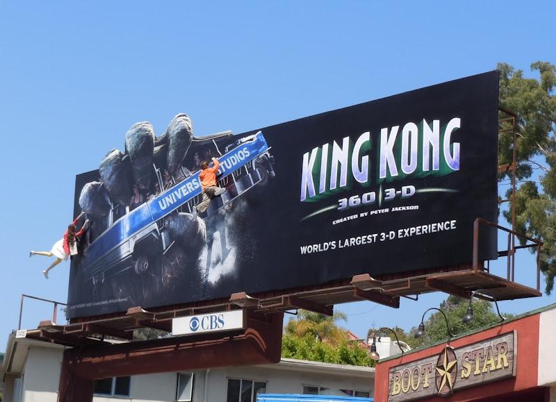Universal Studios King Kong 3D billboard installation