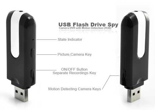 Spy Camera Flashdisk Sensor Gerak