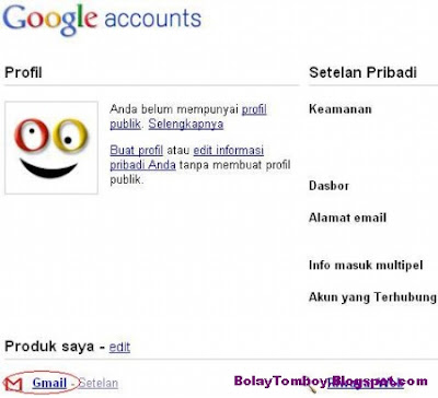 Mengganti Password Gmail Baru