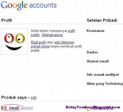 Mengganti Password Gmail Baru