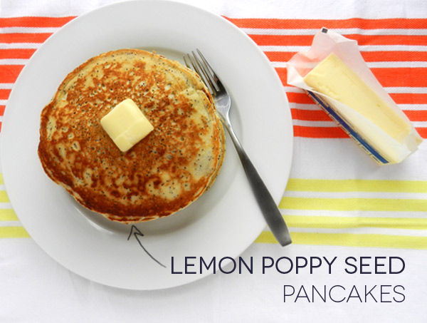 lemon poppy seed pancakes yogurt pancake recipe two peas their lemon ...