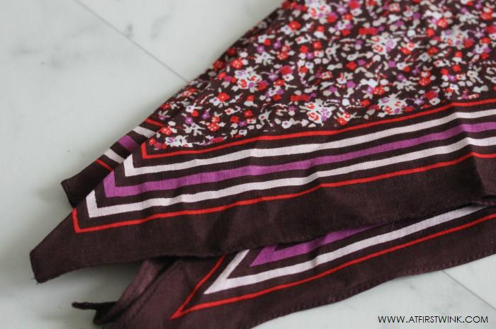 sissy-boy flowery scarf