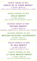 En estos Market Artesanales encontrarás próximamente los productos de  Magic Party: