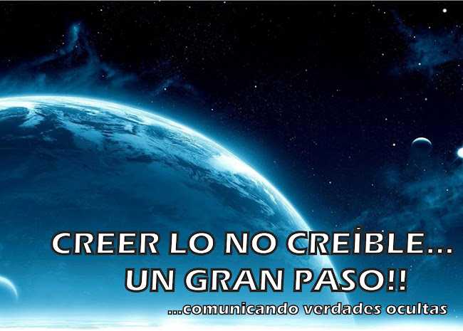 CREER LO NO CREÍBLE...  UN GRAN PASO!!