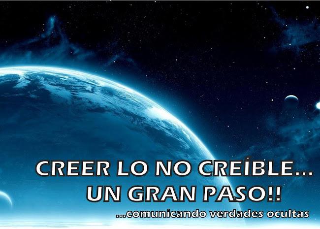 CREER LO NO CREÍBLE...  UN GRAN PASO!!