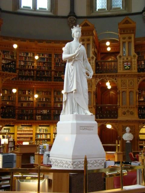 Biblioteca del Parlamento. Ottawa, Canada
