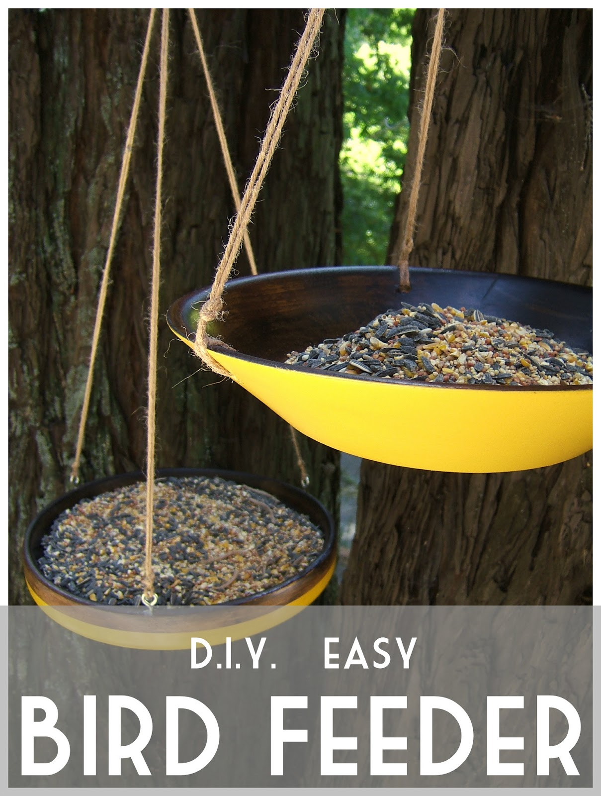 From thrift store salad bowls to cute modern bird feeders for Dyi bird feeder