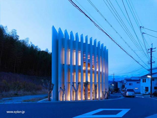 Casa ultramoderna levantada en el Japón