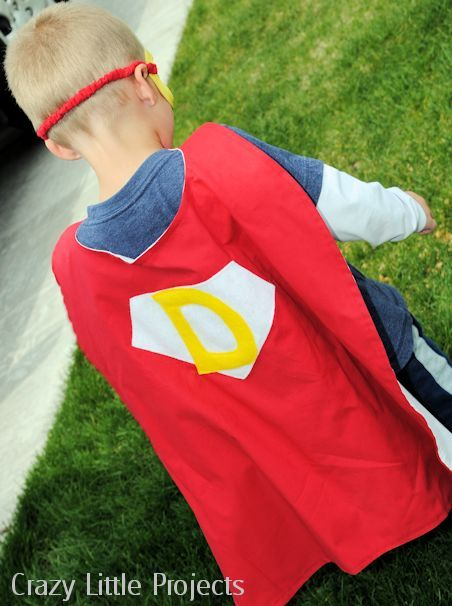 Kid's cape and mask set pattern and tutorial