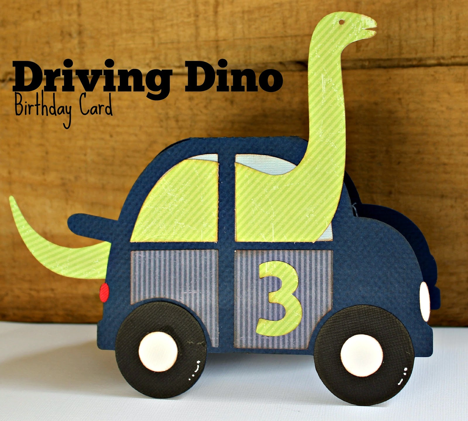 Kutz, Paper, Scissors: Dino Boy Birthday Card