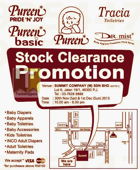 Pureen Stock Clearance Promotion 2013
