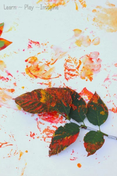 Painting with leaves - how to make homemade paint brushes with leaves