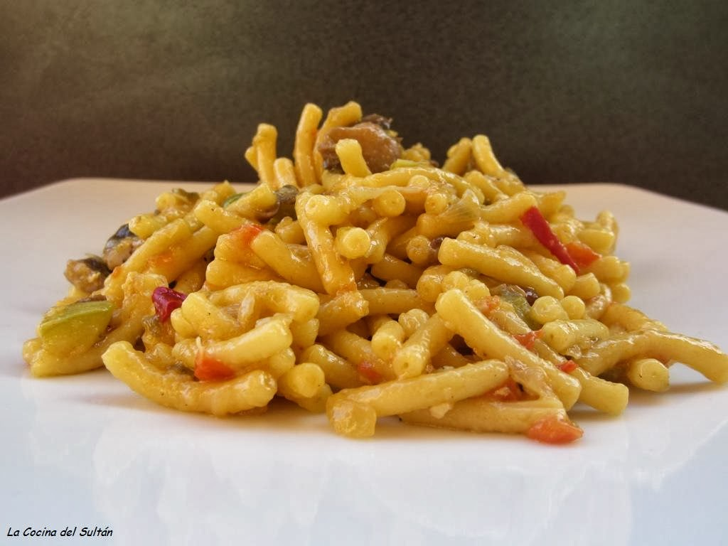 La cocina del sult n fideua de verduras en thermomix - Cocina con sara paella ...