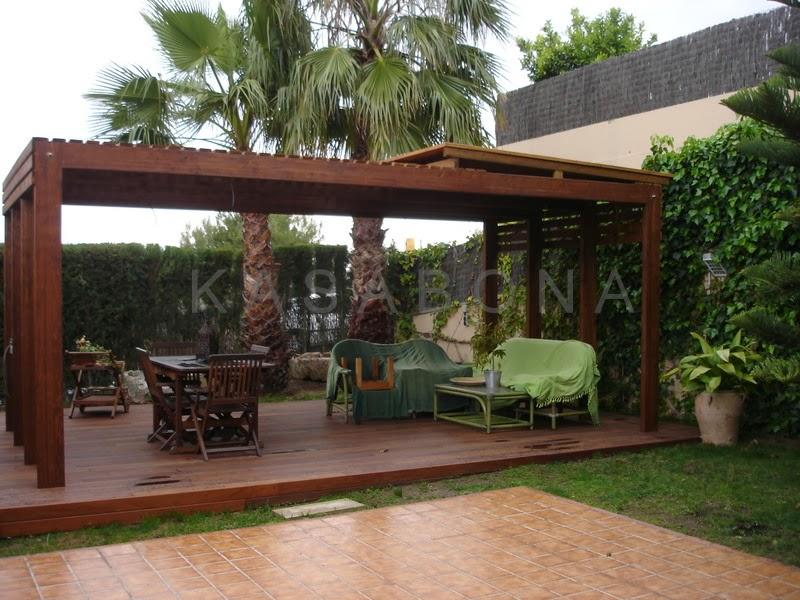 Fotos terrazas y pergolas techos de madera para terraza - Terrazas con pergolas ...