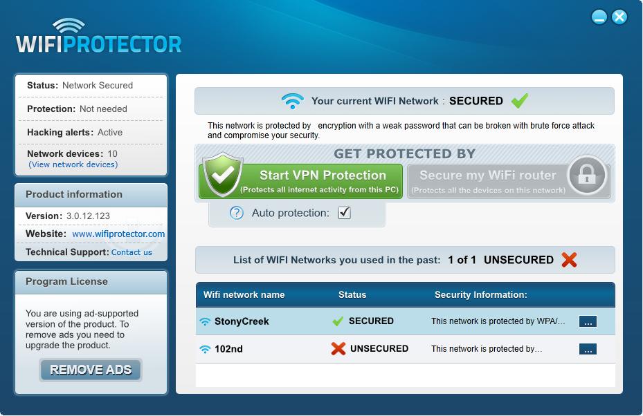 برنامج wifi protector لحماية شبكة الواى فاى