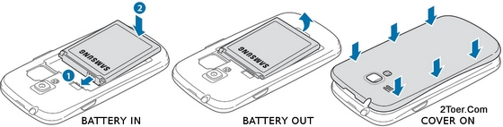 Samsung Galaxy S III mini I8190 Assemble Remove Battery Replace Cover Casing