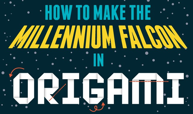 How To Make The Millennium Falcon In Origami Infographic Visualistan