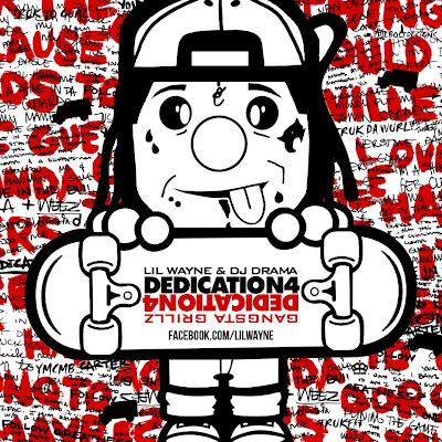 portada oficial de la mixtape dedication 4 de lil wayne