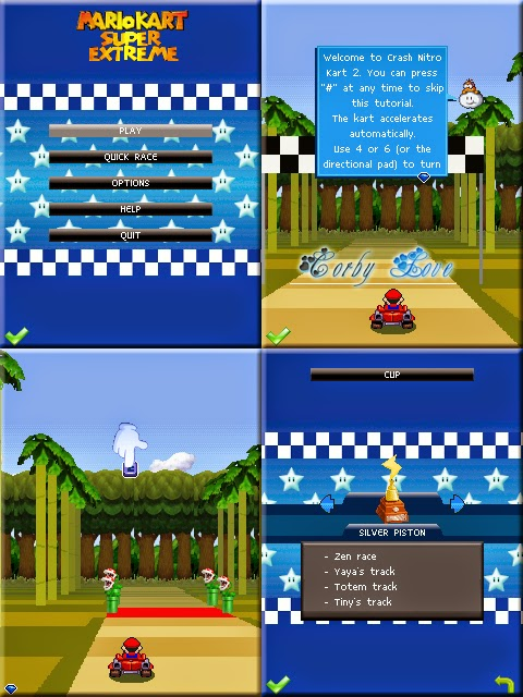 Mario Kart: Super Extreme 240 x 320 Touchscreen Mobile Java Game