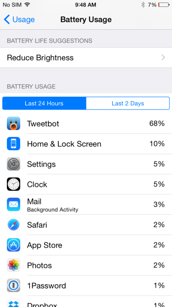 iOS 8 How to: Monitor and track your battery usage 6