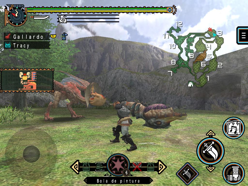 Jugando a Monster Hunter