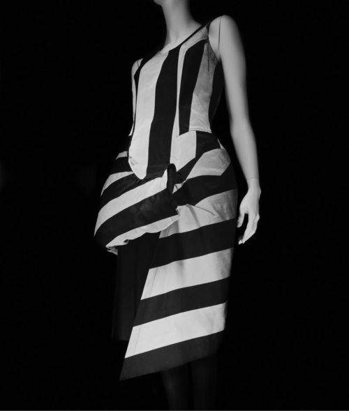 Comme des Garçons stripes, avantgarde striped fashion, conceptual striped fashion, rei kawakubo stripes