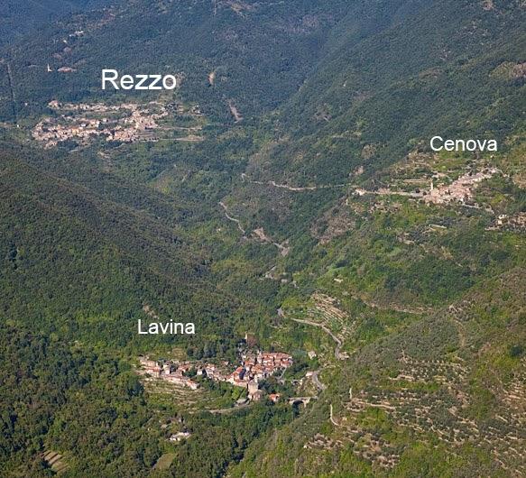 Vogelperspektive: Rezzo - Cenova - Lavinia