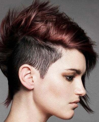 Chic Undercut Short Hair Style 2014