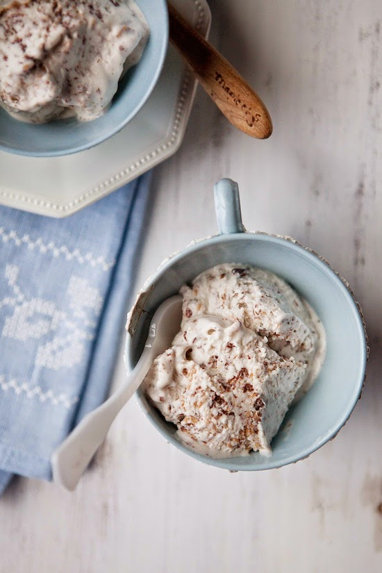 Double Coconut Ice Cream w/ Stracciatella recipe from Five & Spice
