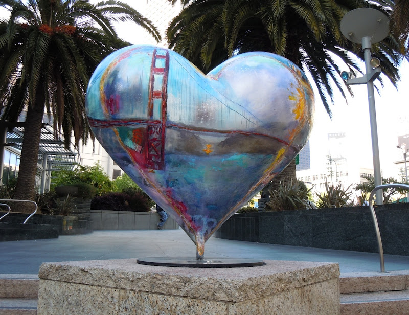 Classic San Francisco heart sculpture