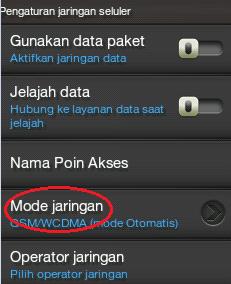 mode jaringan