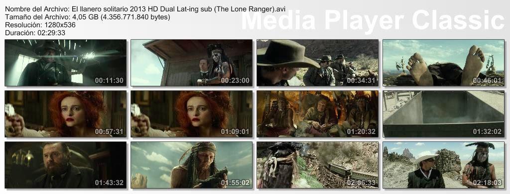 El Llanero Solitario (2013) (AVI) BRrip HD Dual Lat-ing sub