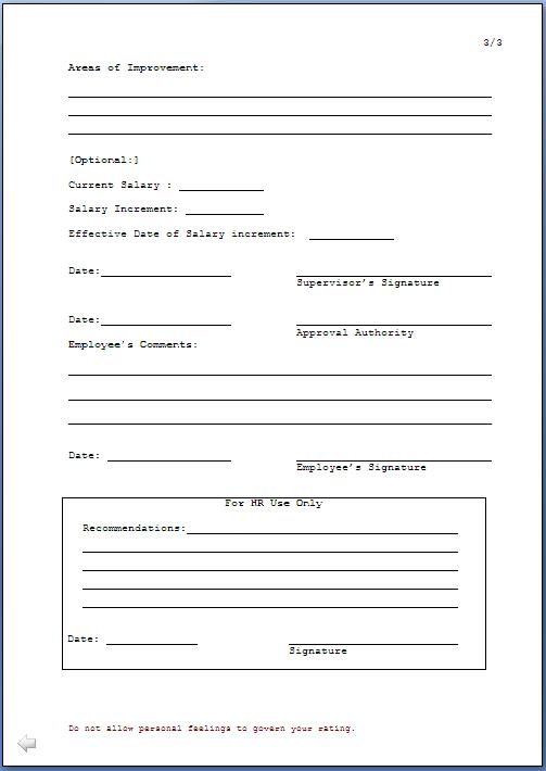 Every Bit of Life: Employee Confirmation Form Template
