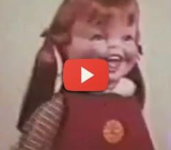 Propaganda assustadora de boneca.