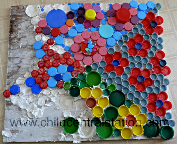 Bottle cap crafts mural for Bottle cap mural